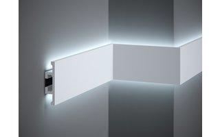 Lijst & Ornament Plint LED QL017 (100 x 25 mm), lengte 2 m