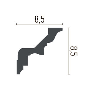 Grand Decor Kroonlijst C738/K102 (87 x 85 mm), polyurethaan, lengte 2 m (Z2)