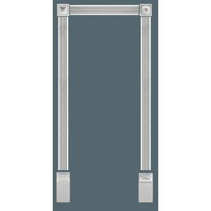 Grand Decor Platte plint CR779 (76 x 20 mm) polyurethaan, lengte 2 m