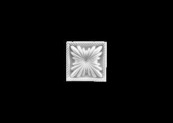 Grand Decor Ornament D400 (11 x 11 Ñ… 2,8 cm), polyurethaan
