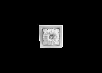 Grand Decor Ornament D401 (9 x 9 Ñ… 2,6 cm), polyurethaan
