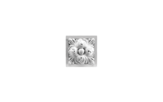 Grand Decor Ornament D488 (9,5 x 9,5 Ñ… 5 cm), polyurethaan