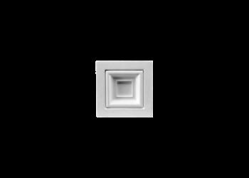 Grand Decor Ornament D493 (9,5 x 9,5 Ñ… 2,5 cm), polyurethaan