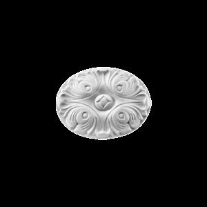 Grand Decor Ornament D489 (15,4 x 11,5 cm x 1,6 cm), polyurethaan