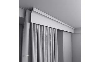 Grand Decor Gordijnlijst P891 (130 x 50 mm), polyurethaan, lengte 2 m