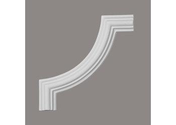 Grand Decor CR727A hoekbochten (130 x 130 mm), polyurethaan, set (4 hoeken)