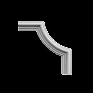 Grand Decor CR824B hoekbochten (230 x 230 mm), polyurethaan, set (4 hoeken