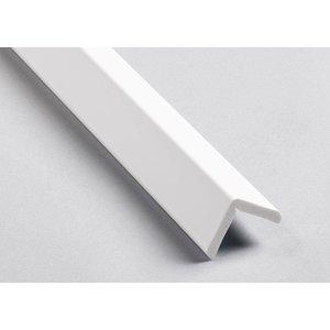 Homestar Kunststof hoekprofiel / hoeklijst / hoekbeschermer CP20 (22 x 22 mm), lengte 2 m