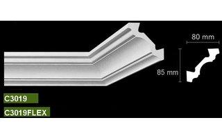 Bovelacci Classicstyl C3019 (80 x 85 mm), lengte 2 m, Polyurethaan stootvast
