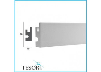 Tesori LED sierlijst voor indirecte verlichting XPS, KD301 (90x40 mm), lengte 1,15 m