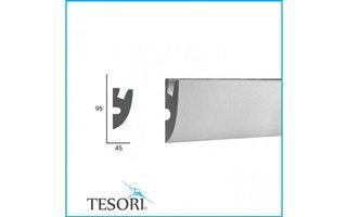 Tesori KD304 (95x45 mm), lengte 1,15 m - LED sierlijst voor indirecte verlichting XPS