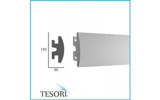 Tesori KD306 (120 x55 mm), lengte 1,15 m - LED sierlijst voor indirecte verlichting XPS