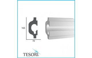Tesori KD119 (165 x 70 mm), lengte 1,15 m - LED sierlijst voor indirecte verlichting XPS
