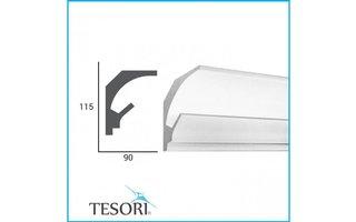 Tesori KD201 (115 x 90 mm), lengte 1,15 m - LED sierlijst voor indirecte verlichting XPS