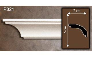 Grand Decor Kroonlijst P821 (50 x 70 mm), polyurethaan, lengte 2 m