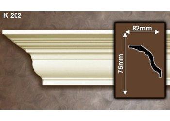 Grand Decor Kroonlijst K202 (75 x 82 mm), polyurethaan, lengte 2 m