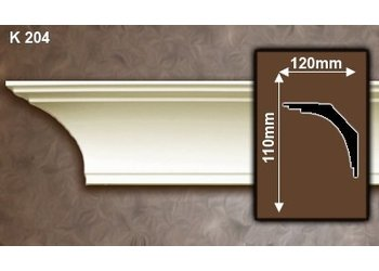 Grand Decor Kroonlijst K204 (110 x 120 mm), polyurethaan, lengte 2 m