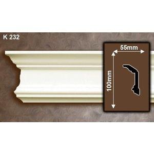 Grand Decor Kroonlijst K232 / P923 (100 x 55 mm), polyurethaan, lengte 2 m