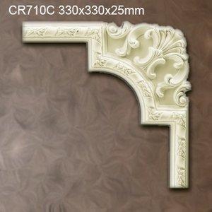 Grand Decor CR710C hoekbochten (330 x 330 mm), polyurethaan, set (4 hoeken)