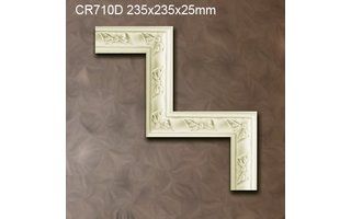 Grand Decor CR710D hoekbochten (235 x 235 mm), polyurethaan, set (4 hoeken)