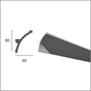 Grand Decor PU - LED sierlijst voor indirecte verlichting, KF702 (80 x 60 mm), lengte 2 m