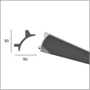 Grand Decor PU - LED sierlijst voor indirecte verlichting, KF703 (90 x 90 mm), lengte 2 m