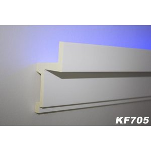 Grand Decor PU - LED sierlijst voor indirecte verlichting, KF705 (111 x 60 mm), lengte 2 m