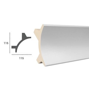 Grand Decor PU - LED sierlijst voor indirecte verlichting, KF706 (115 x 115 mm), lengte 2 m