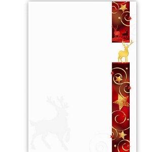 Weihnachtsbotschaft auf Schmuckpapier, eigener Text
