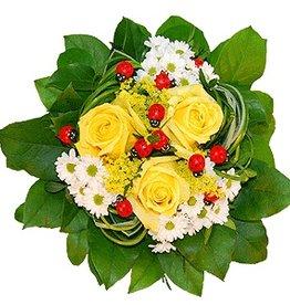flotte Blumen Strauß Viel Glück