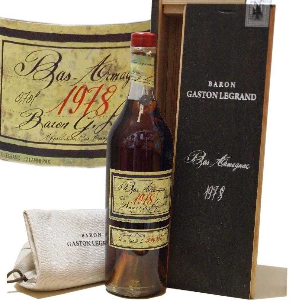 Baron Gaston Legrand 40 Jahre alter Armagnac Jahrgang 1978