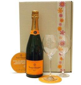 Veuve Clicquot Champagner Geschenk-Set mit Original-Gläsern