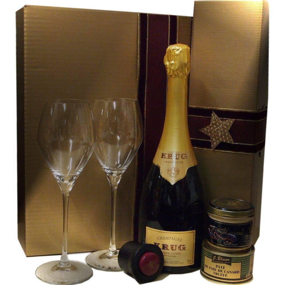 Krug Champagner Grande Cuvée zu Weihnachten schenken