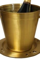 Klassischer Champagnerkühler mit Unterteller