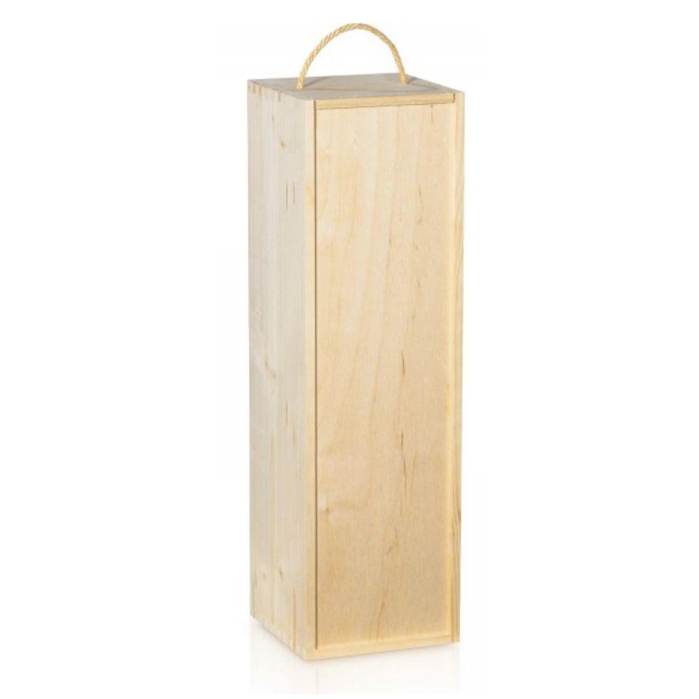 Holzkiste für große Champagnerflasche - Magnum
