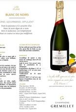 Gremillet Champagner Blanc de Noirs  - in der glänzend goldenen Flasche
