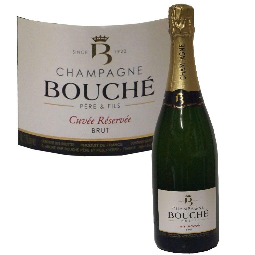 Champagne Bouché Cuvée Réservée brut - im weihnachtlichen Geschenkset