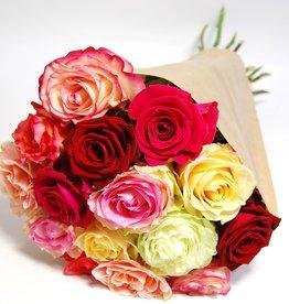 flotte Blumen Rosenstrauß Rosen Mix