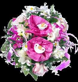 flotte Blumen Strauß zur Geburt - Mädchen