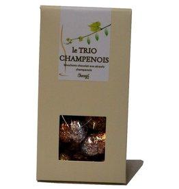 Chocogil Pralinenkorken gefüllt mit verschiedenem Alkohol aus der Champagne