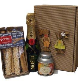 Moet & Chandon Champagner kleine Osterüberraschung mit Mini Moet Champagner