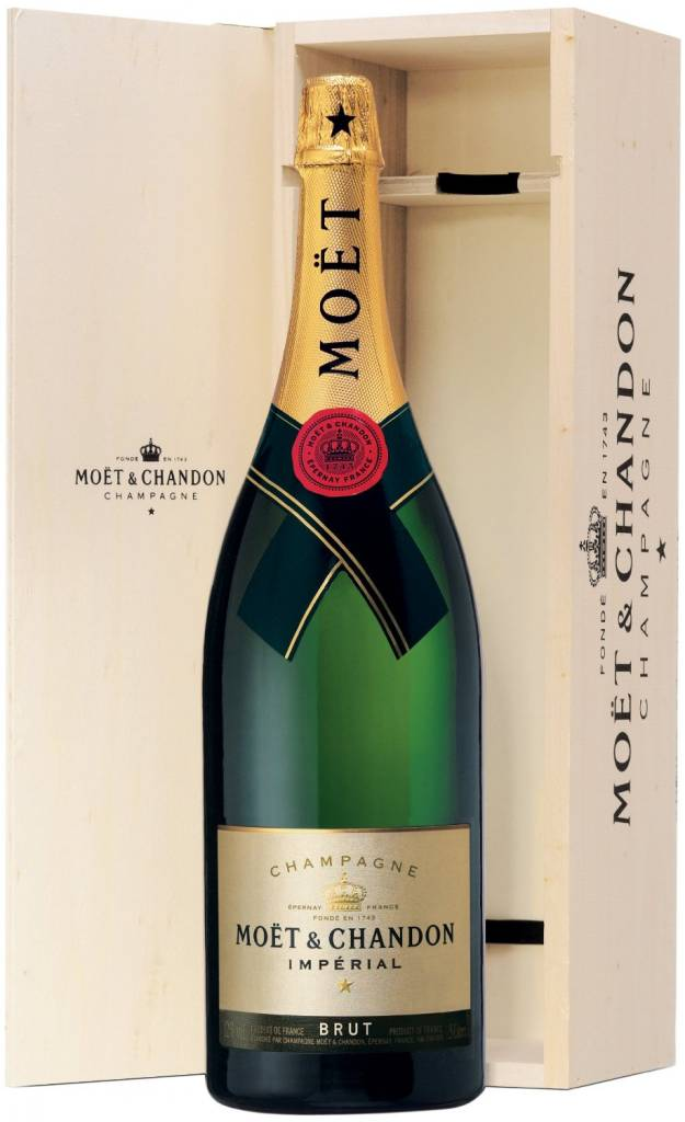 Moet & Chandon Champagner 3 Liter Großflasche Jeroboam in der Holzkiste