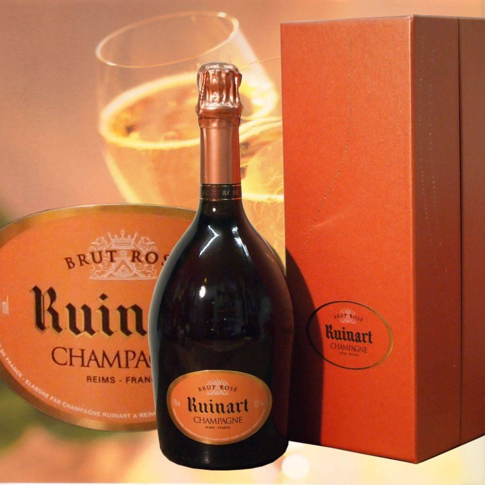 Ruinart Champagner Magnumflasche Rosé Brut in aufklappbarer Geschenkbox