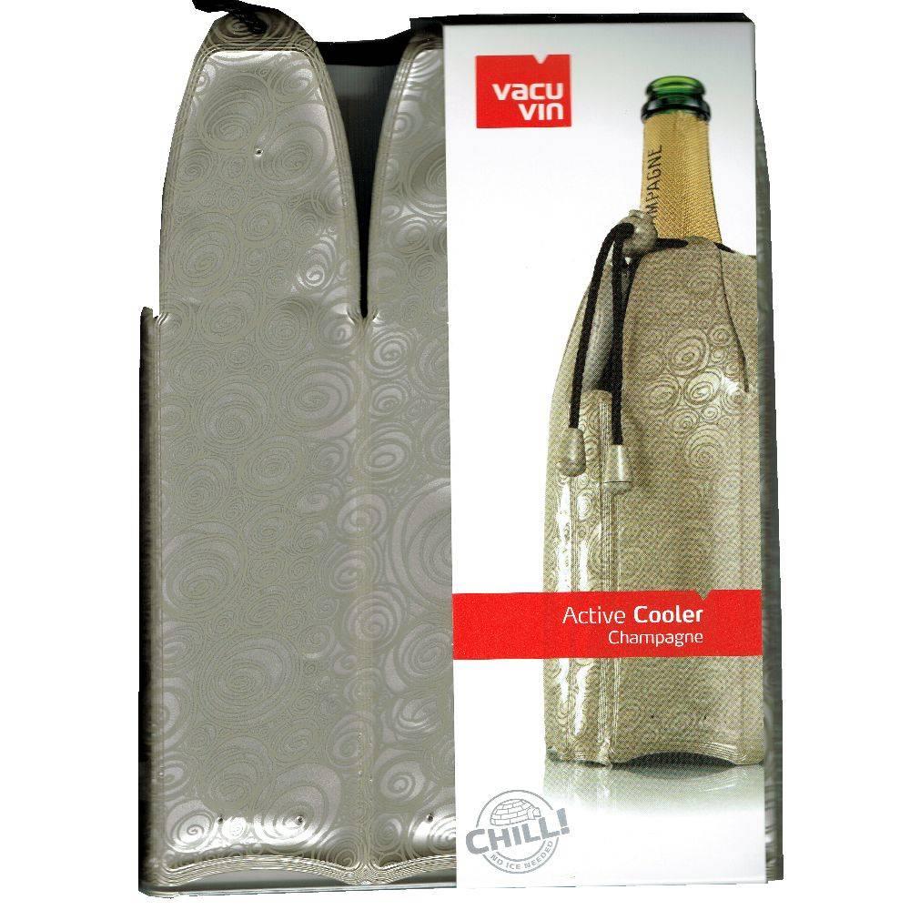 Vacu Vin Champagner schnell kühlen mit der praktischen Kühlmanschette von VacuVin