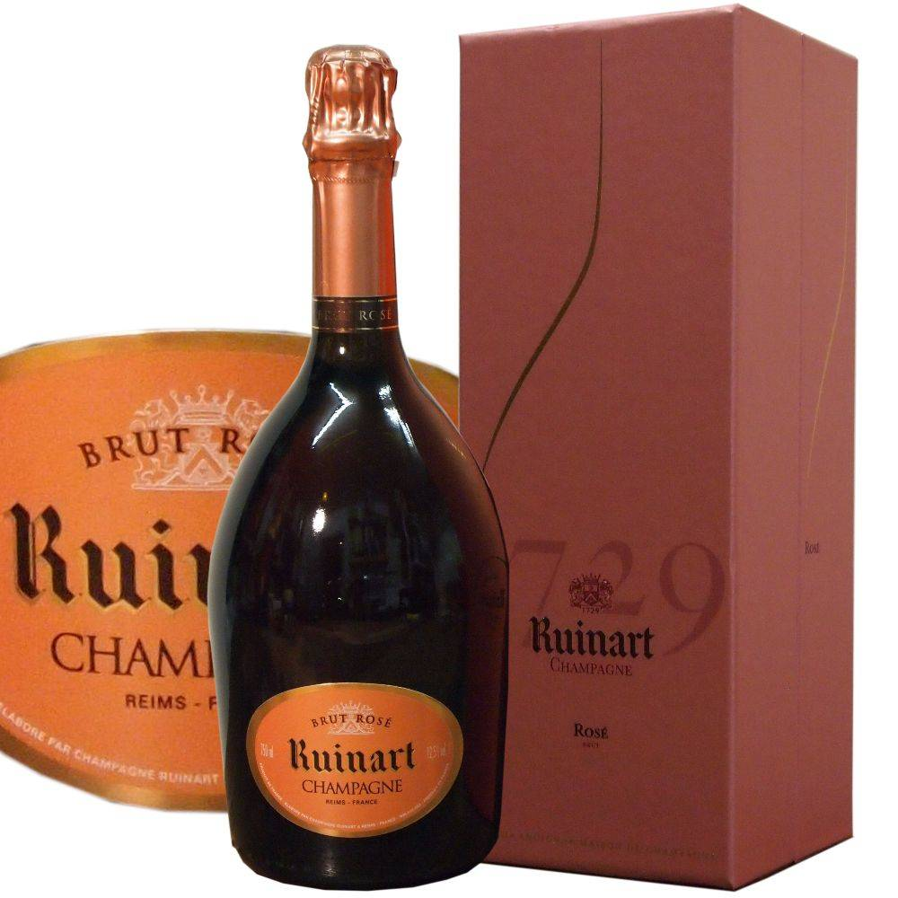 Ruinart Champagner Rosé Brut in aufklappbarer Geschenkbox