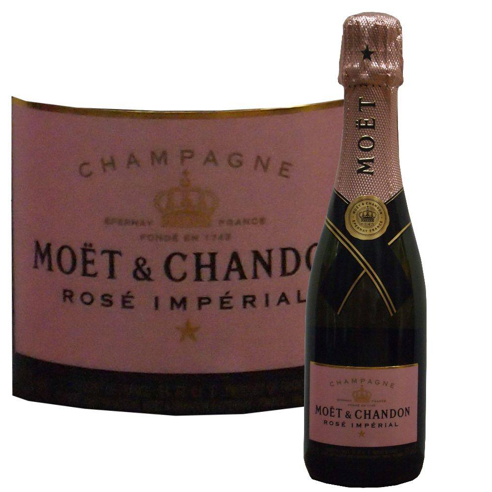 Moet & Chandon Champagner der kleine fruchtiger Rosé aus dem Champagnerhaus Moet & Chandon in der halben Flasche