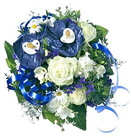 flotte Blumen Strauß Baby Leon
