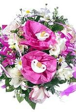 flotte Blumen Strauß zur Geburt eines kleinen Mädchens