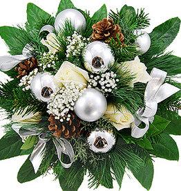 flotte Blumen Strauß Silver