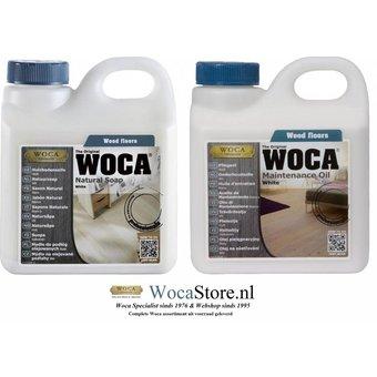 Woca Natuurzeep en Onderhoudsolie WIT -ACTIE-